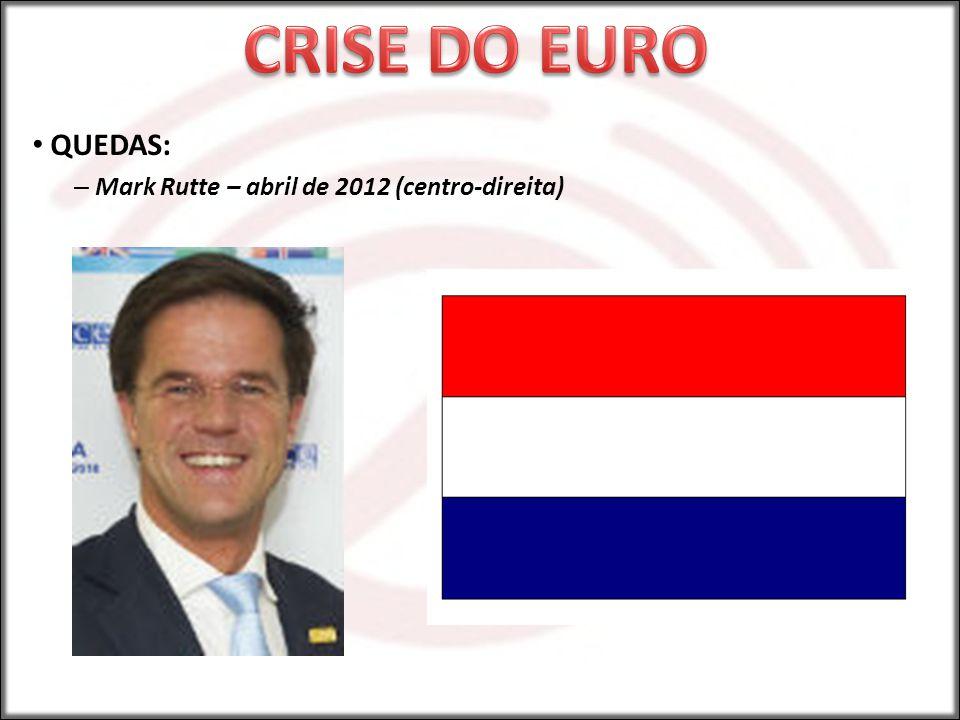 QUEDAS: – Mark Rutte – abril de 2012 (centro-direita)