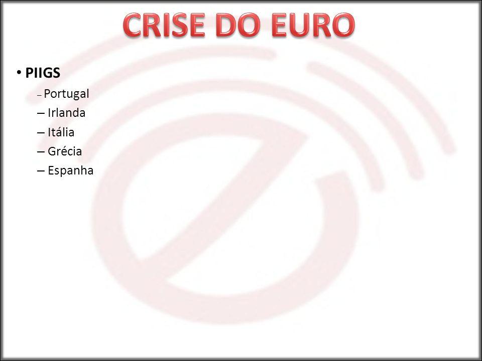PIIGS – Portugal – Irlanda – Itália – Grécia – Espanha