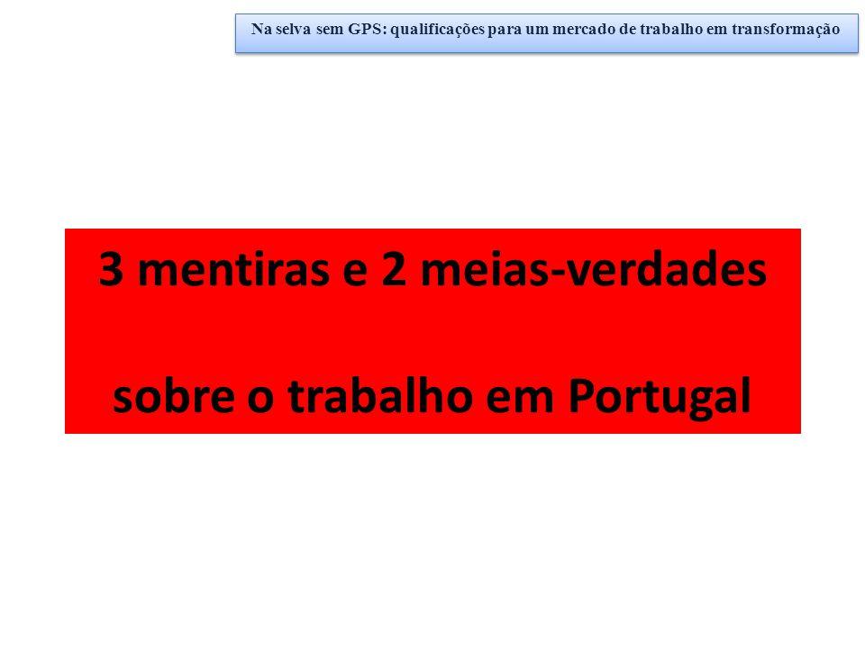 3 mentiras e 2 meias-verdades sobre o trabalho em Portugal Na selva sem GPS: qualificações para um mercado de trabalho em transformação
