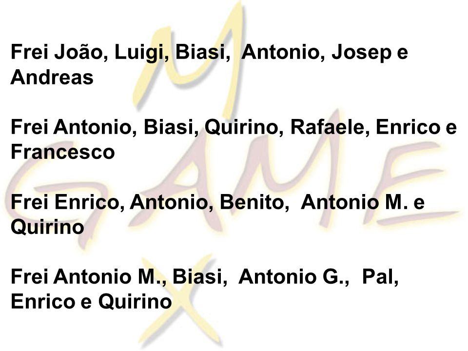 Frei João, Luigi, Biasi, Antonio, Josep e Andreas Frei Antonio, Biasi, Quirino, Rafaele, Enrico e Francesco Frei Enrico, Antonio, Benito, Antonio M.