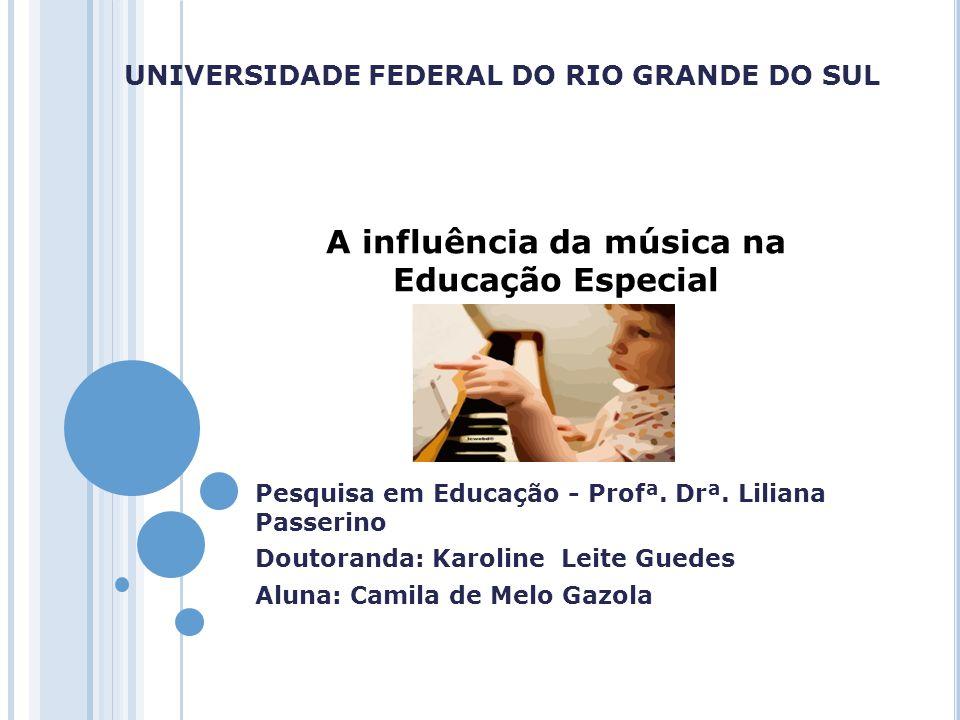 UNIVERSIDADE FEDERAL DO RIO GRANDE DO SUL Pesquisa em Educação - Profª. Drª. Liliana Passerino Doutoranda: Karoline Leite Guedes Aluna: Camila de Melo