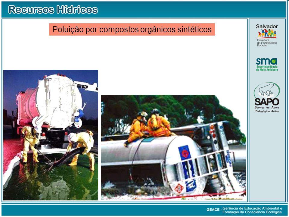 Poluição por compostos orgânicos sintéticos Poluição por Compostos Orgânicos Sintéticos (cont.)