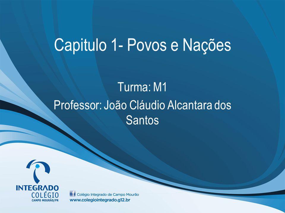 Capitulo 1- Povos e Nações Turma: M1 Professor: João Cláudio Alcantara dos Santos