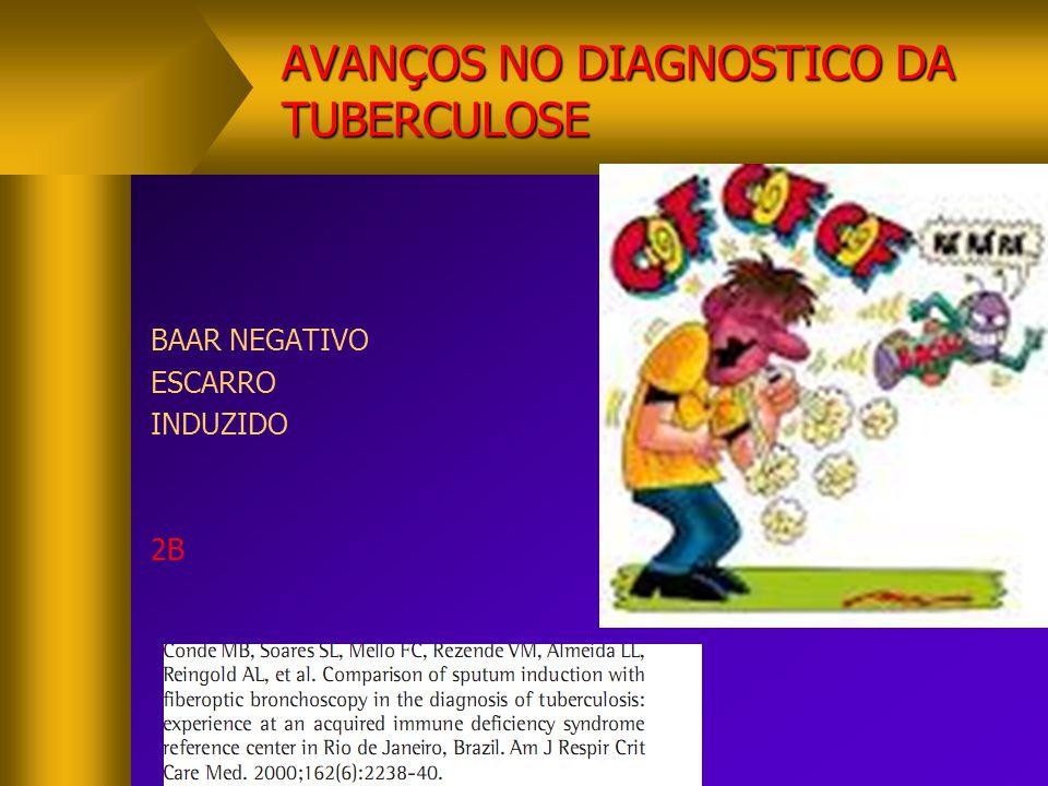 AVANÇOS NO DIAGNOSTICO DA TUBERCULOSE BAAR NEGATIVO ESCARRO INDUZIDO 2B