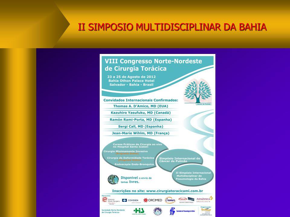 II SIMPOSIO MULTIDISCIPLINAR DA BAHIA