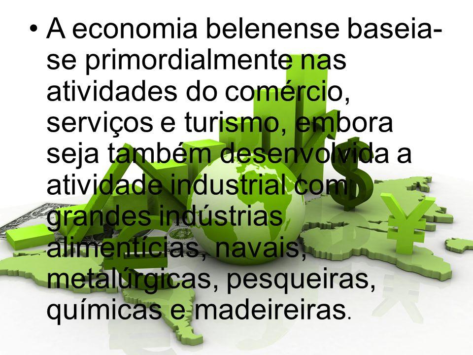 A economia belenense baseia- se primordialmente nas atividades do comércio, serviços e turismo, embora seja também desenvolvida a atividade industrial