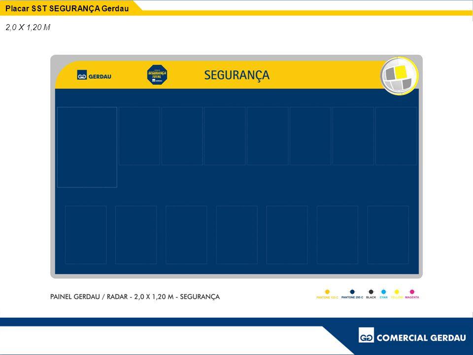 Placar SST SEGURANÇA Gerdau 2,0 X 1,20 M