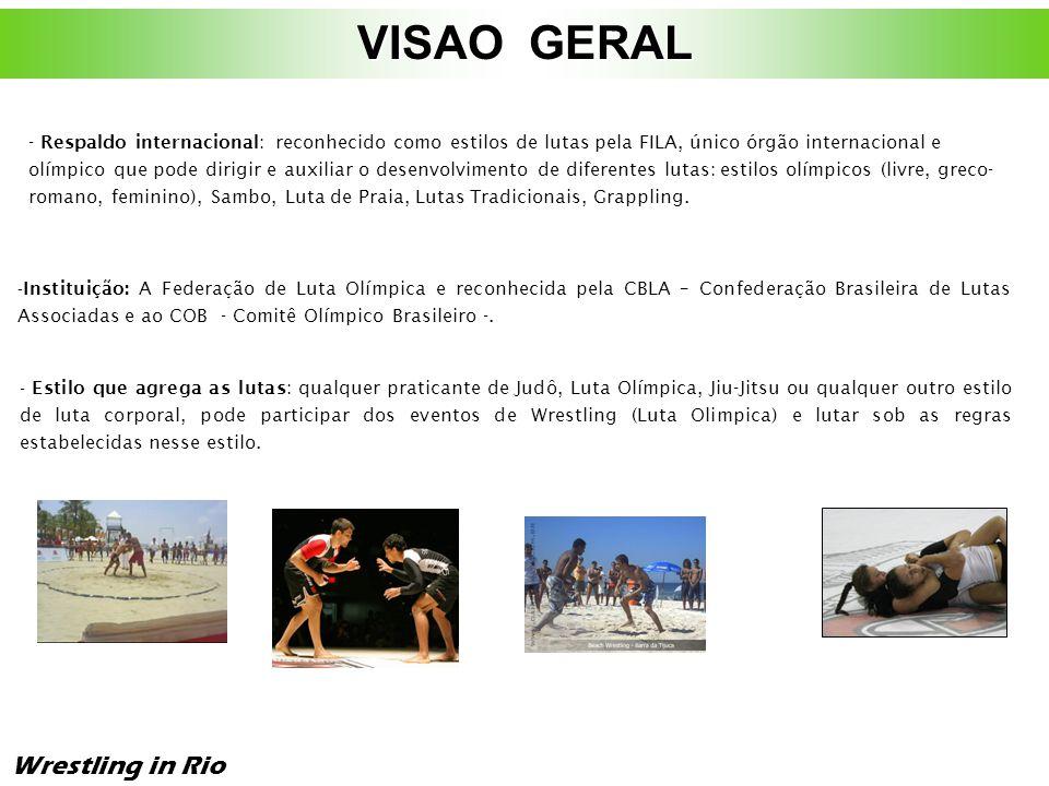 Luta Olímpica Wrestling in Rio Luta Olímpica A modalidade que marcou presença no PAN 2007 é conhecida internacionalmente como Wrestling, e dividida em três estilos: Greco Romano, Estilo Livre Masculino e Livre Feminino.