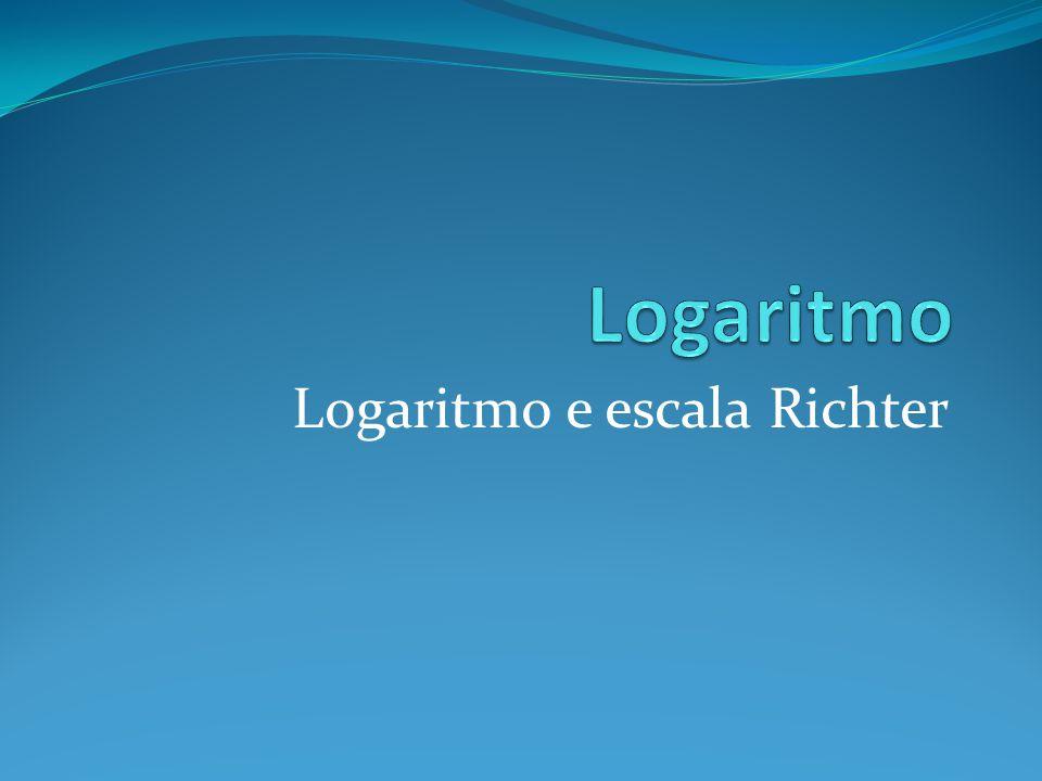 Logaritmo e escala Richter