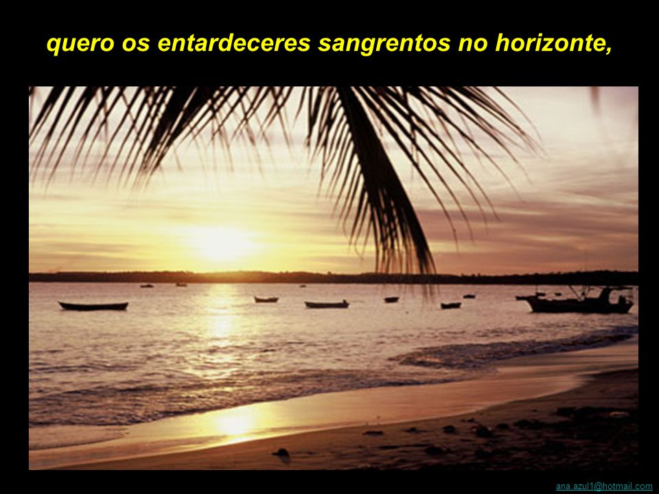 Ô São Pedro, pegue o estoque de azul mais puro e jogue dentro das manhãs encharcadas de sol, faça do mar um espelho do céu, polvilhado de jangadas brancas;