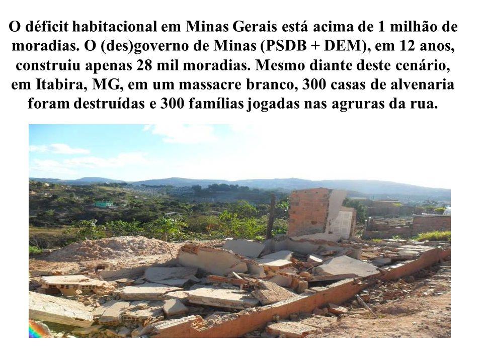 O déficit habitacional em Minas Gerais está acima de 1 milhão de moradias.