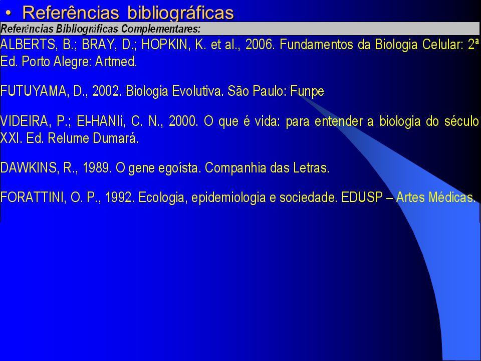 Referências bibliográficas Referências bibliográficas