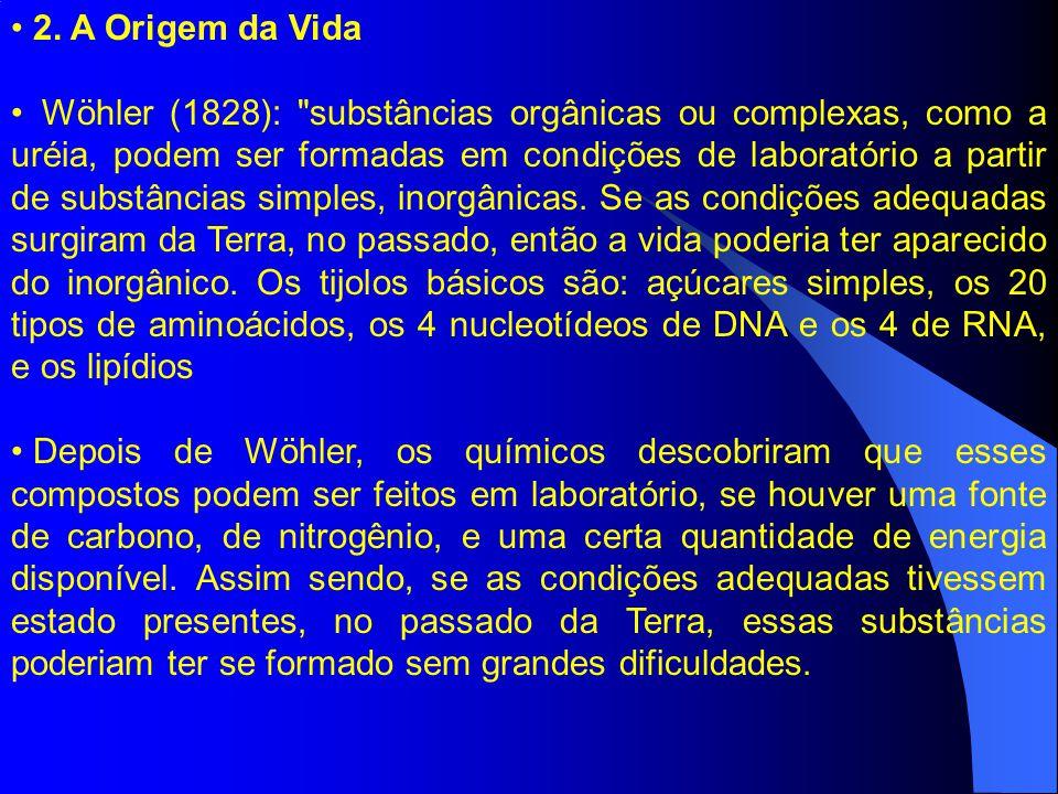 2. A Origem da Vida Wöhler (1828):