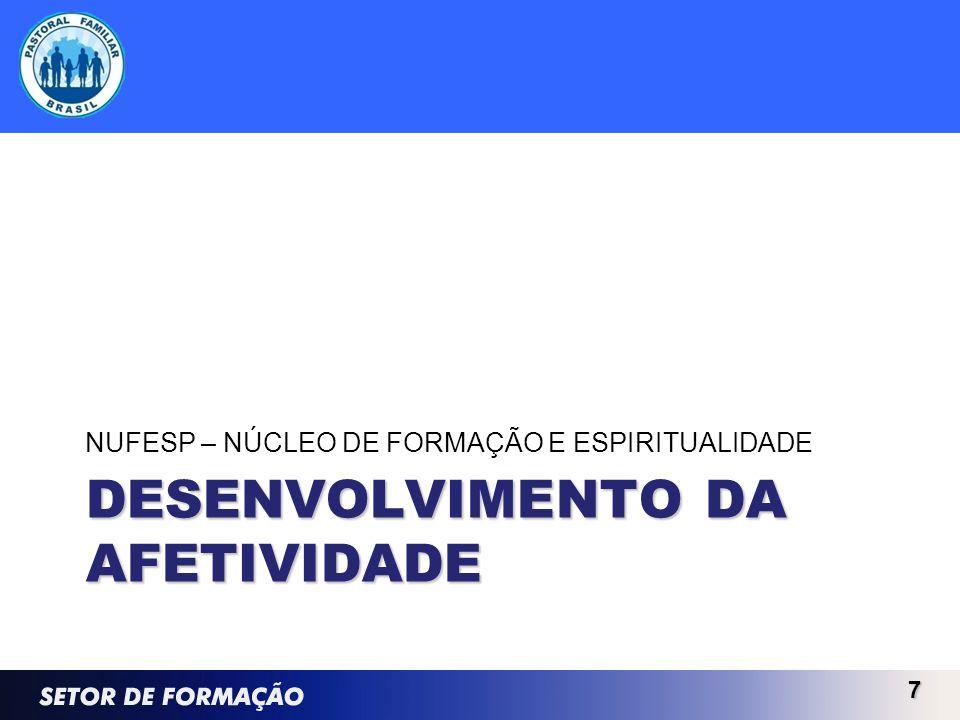DESENVOLVIMENTO DA AFETIVIDADE NUFESP – NÚCLEO DE FORMAÇÃO E ESPIRITUALIDADE 7