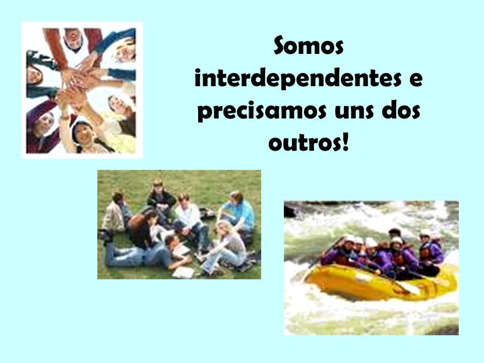 Somos interdependentes e precisamos uns dos outros!