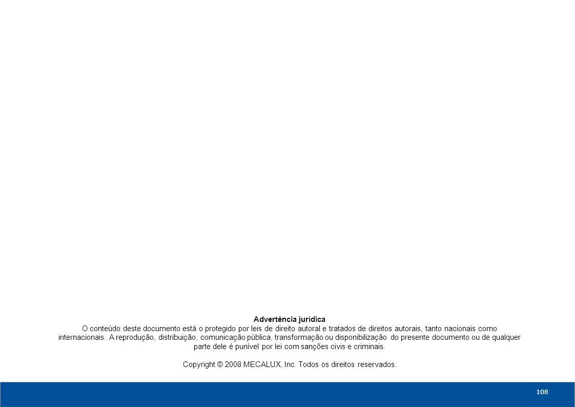 0800-770-6870 108 Advertência jurídica O conteúdo deste documento está o protegido por leis de direito autoral e tratados de direitos autorais, tanto nacionais como internacionais.