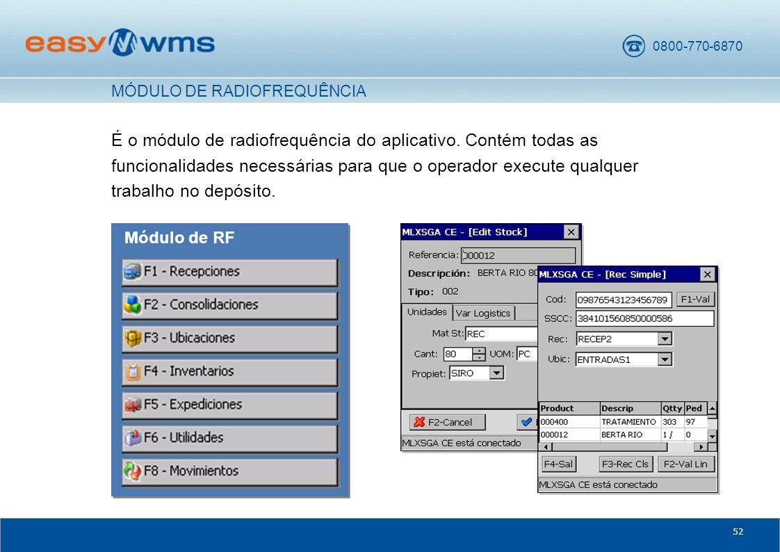 0800-770-6870 52 É o módulo de radiofrequência do aplicativo.