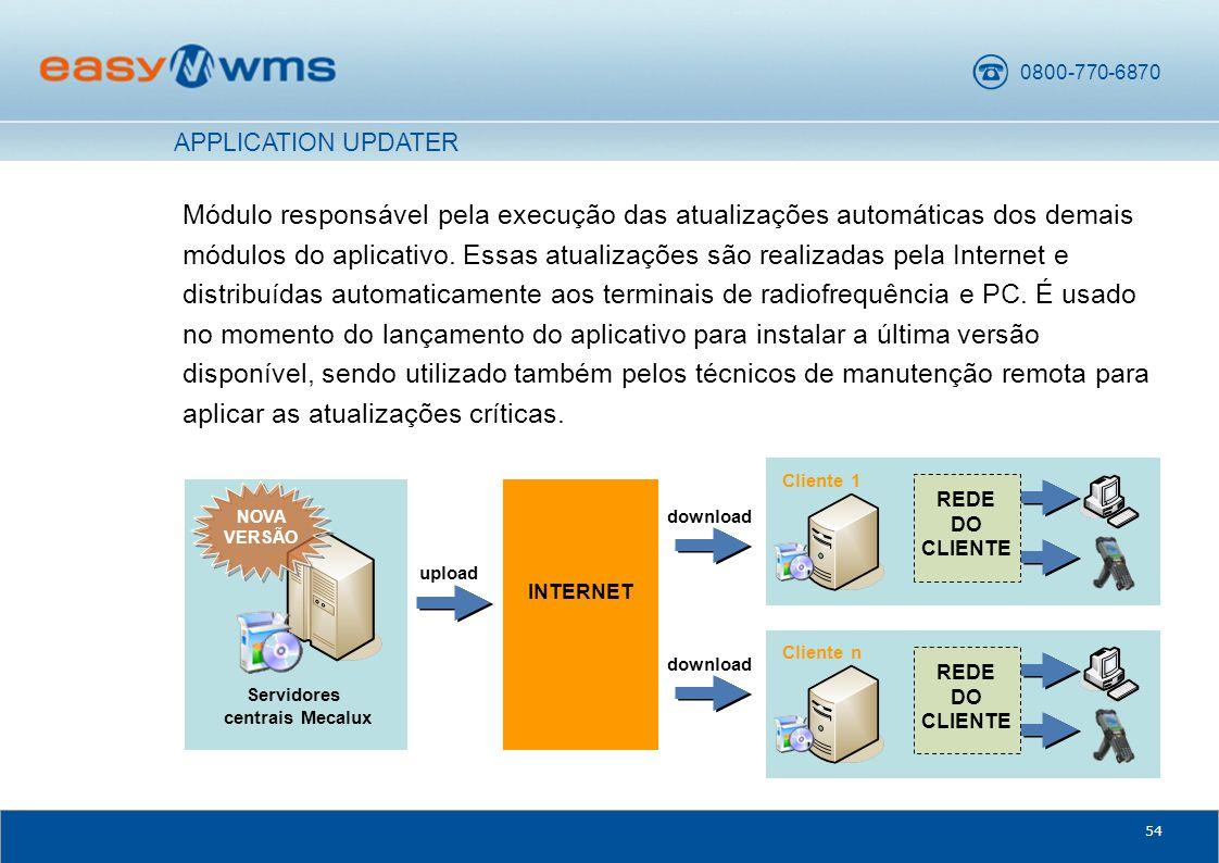 0800-770-6870 54 Módulo responsável pela execução das atualizações automáticas dos demais módulos do aplicativo.