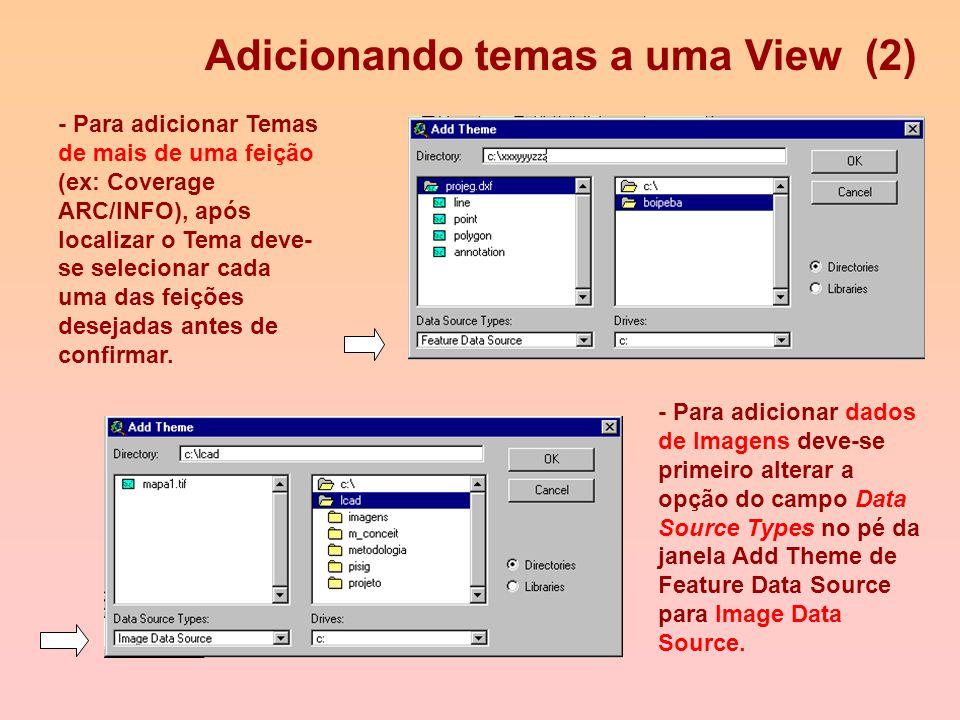 Adicionando temas a uma View (1) - Para adicionar, clique no botão Add Theme, da barra de botões e na janela que foi aberta, procure pelo tema desejad