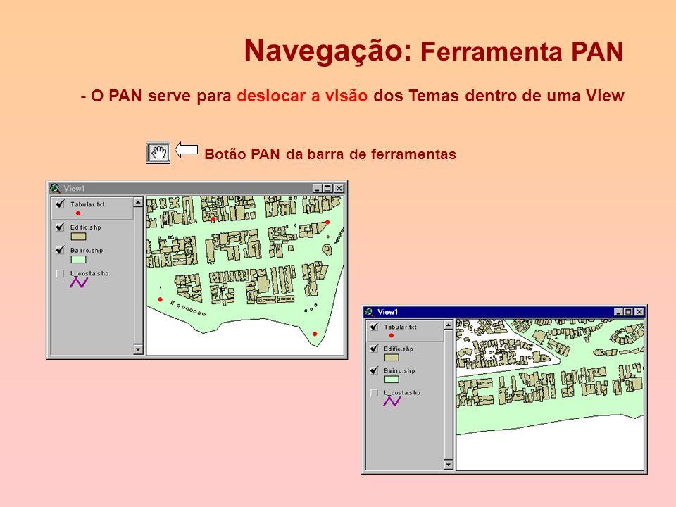 Adicionando temas a uma View (2) - Para adicionar Temas de mais de uma feição (ex: Coverage ARC/INFO), após localizar o Tema deve- se selecionar cada