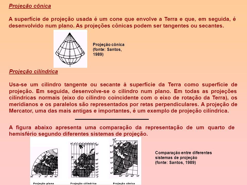 Projeções Cartográficas Todos os mapas são representações aproximadas da superfície terrestre. Isto ocorre porque não se pode passar de uma superfície