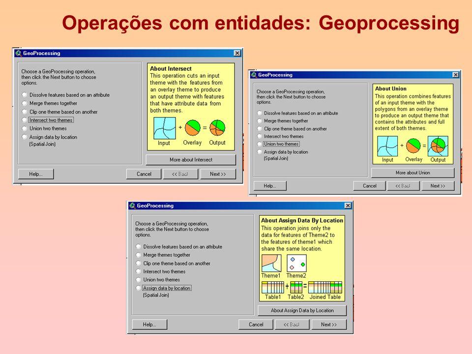 Operações com entidades: Geoprocessing