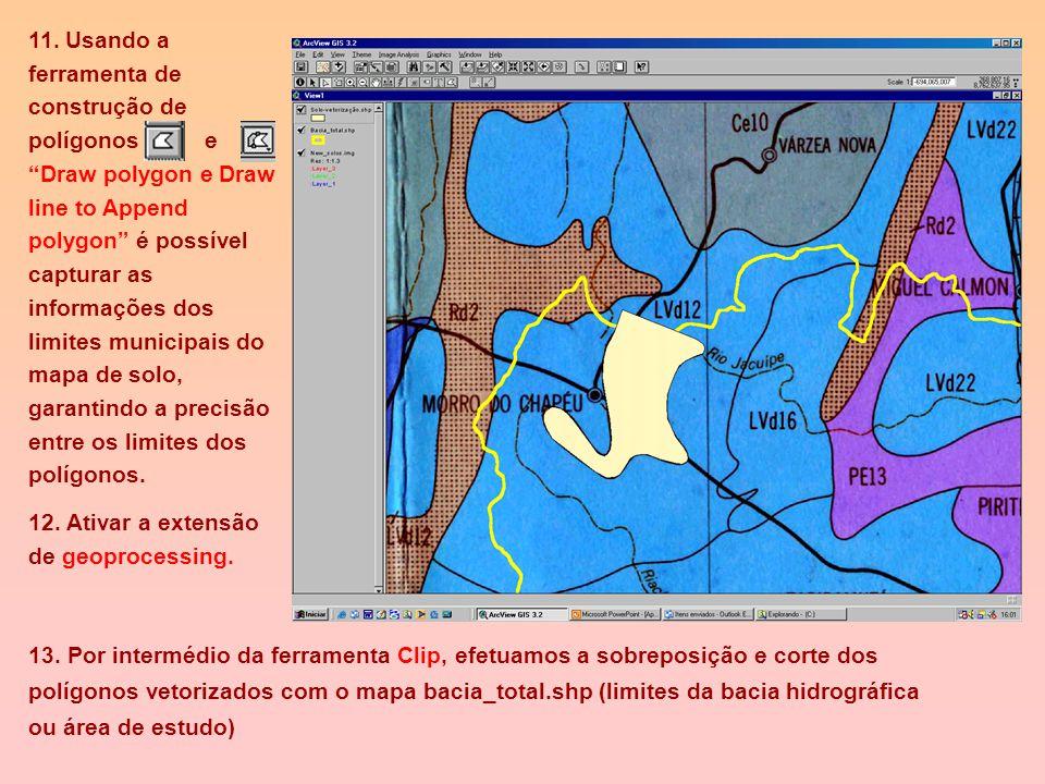 C) Vetorizando e editando Imagem Adicionando feições a um tema de shape. Para vetorizar imagens é preciso usar as ferramentas de desenho (Draw tool) P
