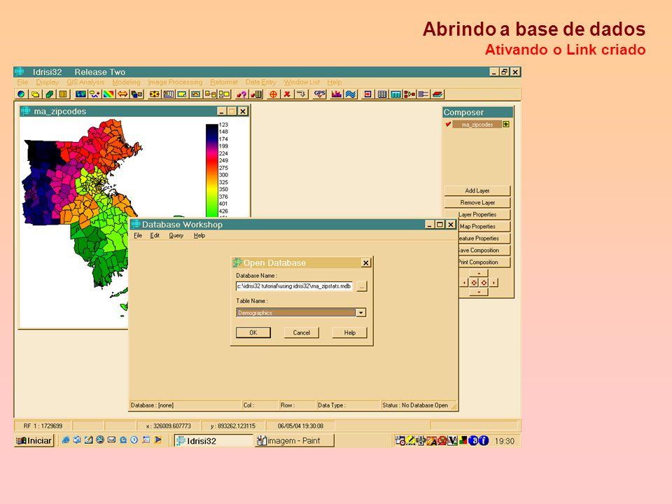 Collection Editor Fazendo ligações entre mapas vetoriais e base de dados: criando links