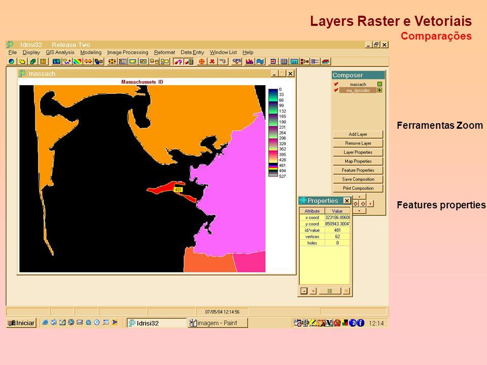 Imagem Raster Adição de um Layer vetorial Symbol file
