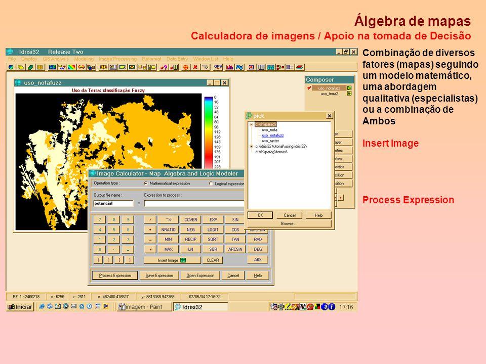 Classificação Fuzzy Apoio na tomada de Decisão O mapa de usos da terra pode ser classificado considerando funções de pertinência Fuzzy...os especialis