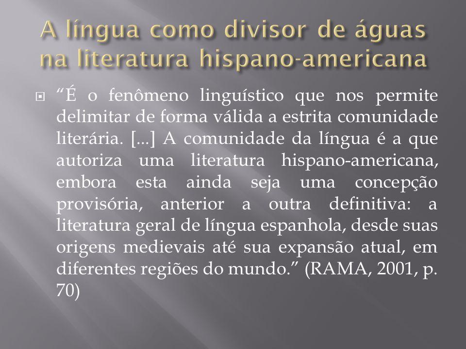 """ """"É o fenômeno linguístico que nos permite delimitar de forma válida a estrita comunidade literária. [...] A comunidade da língua é a que autoriza um"""