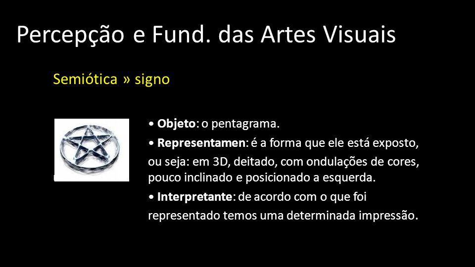 Percepção e Fund.das Artes Visuais Semiótica » signo Objeto: o pentagrama.