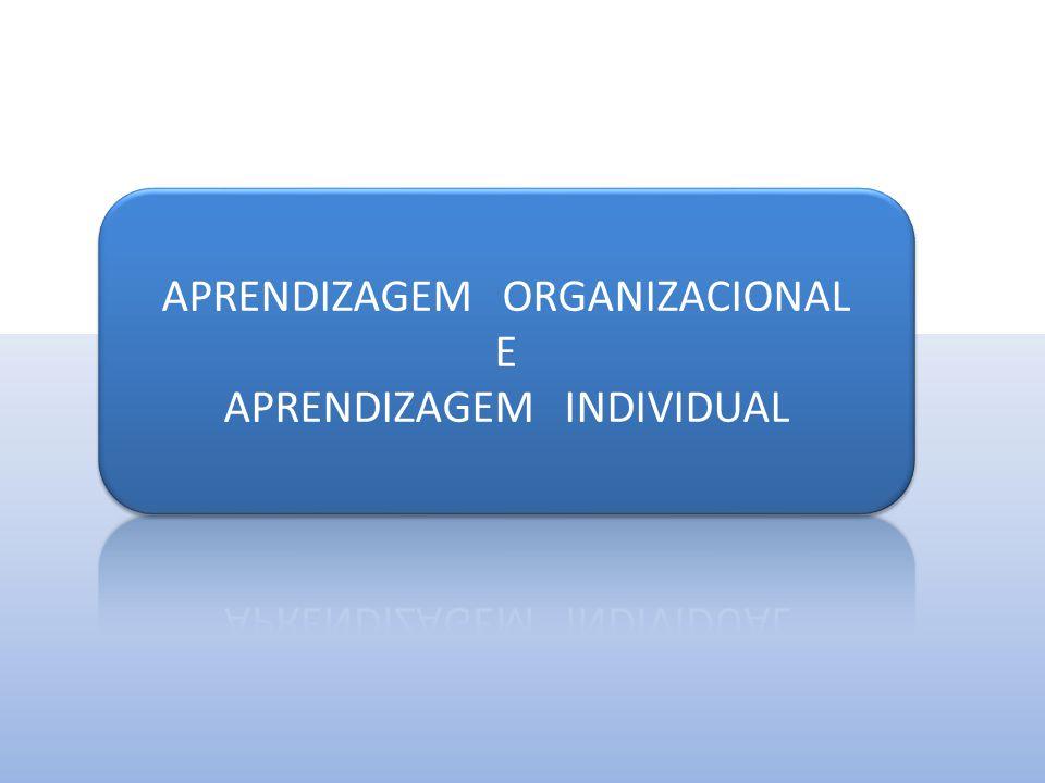CONHECIMENTO INDIVIDUAL EVOLUÇÃO DO CONHECIMENTO Aprendizagem Individual CONHECIMENTO ORGANIZACIONAL Aprendizagem Organizacional CONHECIMENTO SOCIAL Aprendizagem de um todo