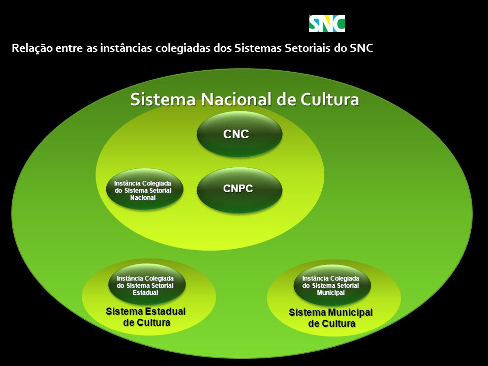 Ministério da Cultura Sistema Municipal de Cultura de Cultura Instância Colegiada do Sistema Setorial Municipal Relação entre as instâncias colegiadas