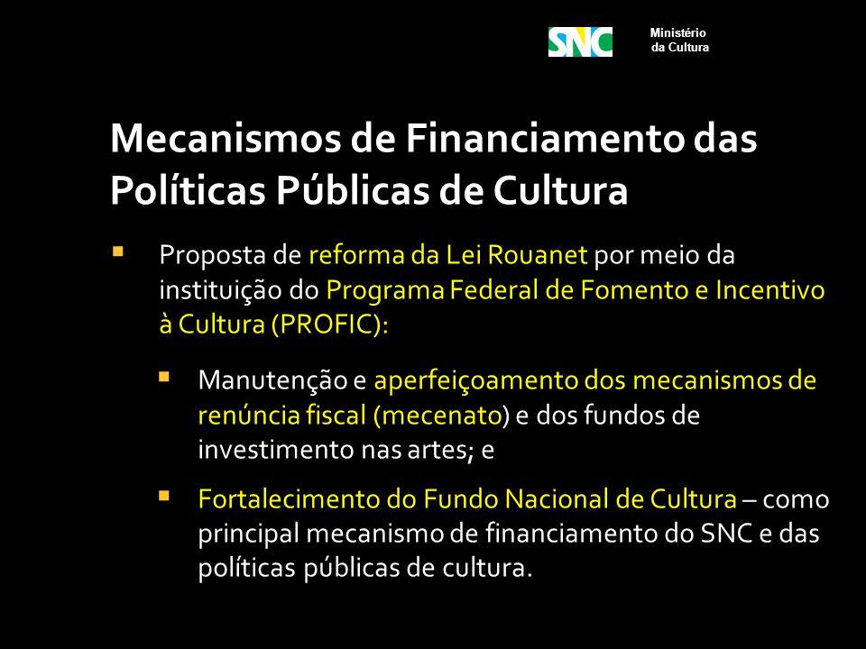 Mecanismos de Financiamento das Políticas Públicas de Cultura  Proposta de reforma da Lei Rouanet por meio da instituição do Programa Federal de Fome