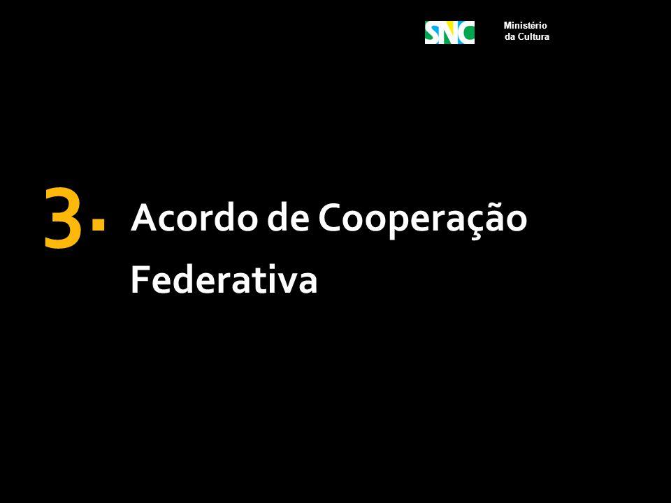 3. Acordo de Cooperação Federativa Ministério da Cultura