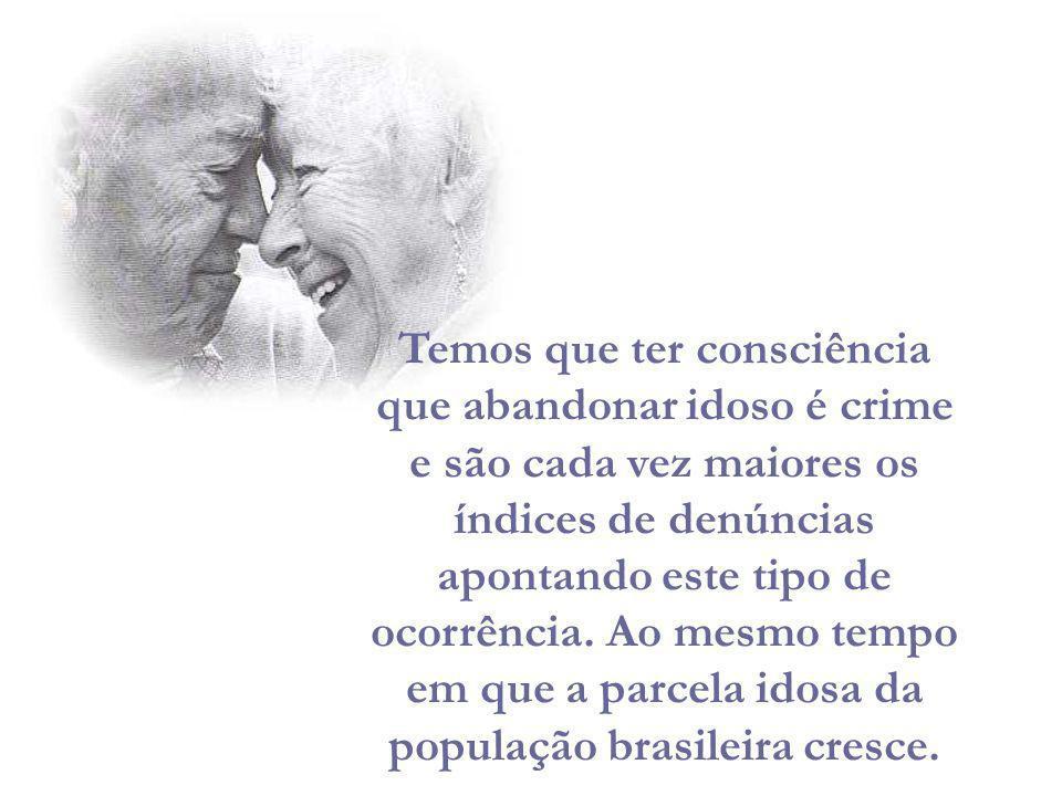 Hoje 14,5 milhões de pessoas, 8,6% da população total do País, são pessoas idosas.