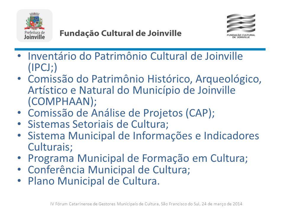Inventário do Patrimônio Cultural de Joinville (IPCJ;) Comissão do Patrimônio Histórico, Arqueológico, Artístico e Natural do Município de Joinville (