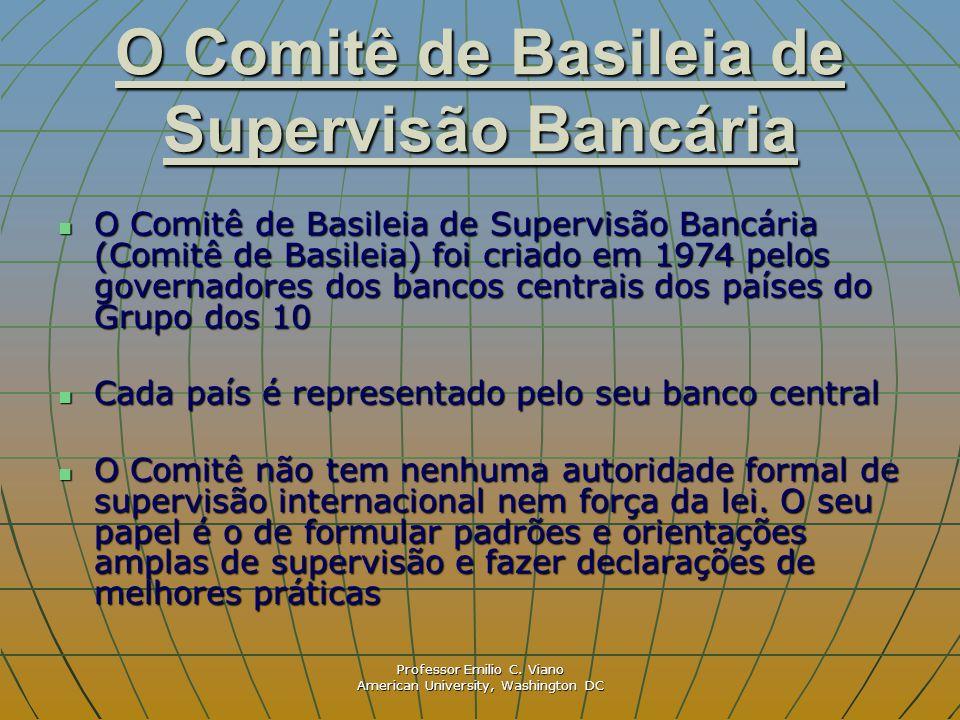 Professor Emilio C. Viano American University, Washington DC O Comitê de Basileia de Supervisão Bancária O Comitê de Basileia de Supervisão Bancária (