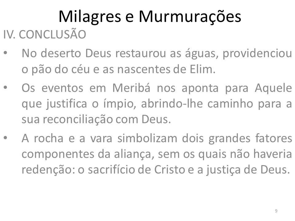 Milagres e Murmurações V.