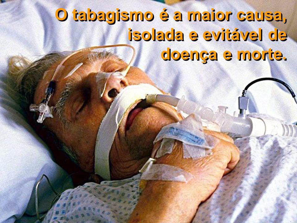 COCAÍNA HEROÍNA ÁLCOOL INCÊNDIOS SUÍCIDIOS AIDS A epidemia tabágica está produzindo maior número de mortes que cocaína, heroína, álcool, incêndios, suicídios e AIDS, somados.