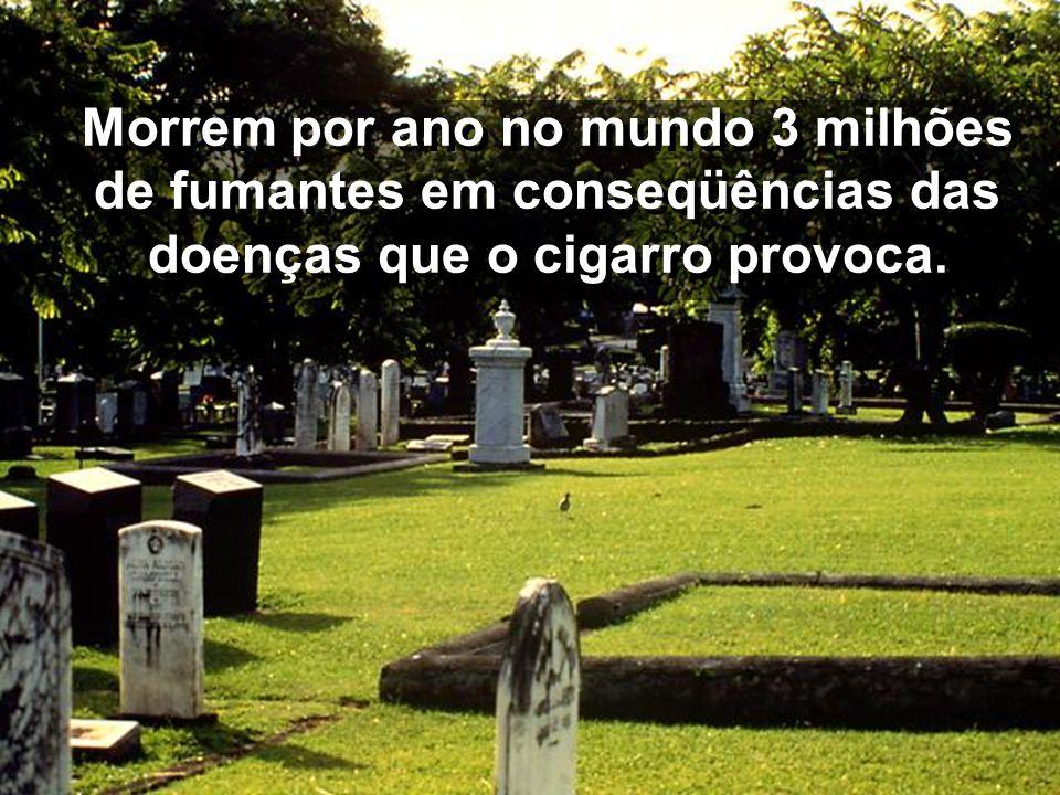 No Brasil existem 33 milhões de fumantes, sendo 8 milhões do estado de São Paulo.