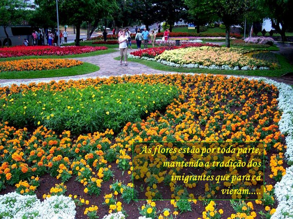Pertinho de Gramado, a beleza dos Jardins de Nova Petrópolis, uma comunidade inteira dedicada a a zelar pelos belos jardins da praça central...
