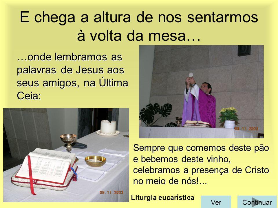 … é como se fôssemos os discípulos e estivéssemos a ouvir Jesus Cristo, reunidos à sua volta!... É a liturgia da Palavra A seguir vêm as leituras A de