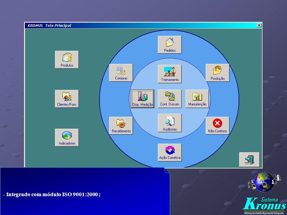 KRONUS – Sistema Integrado - Software p/ gerenciar todos os processos de sua empresa ( estoques, custos, produção, compras, vendas, financeiro e pesso