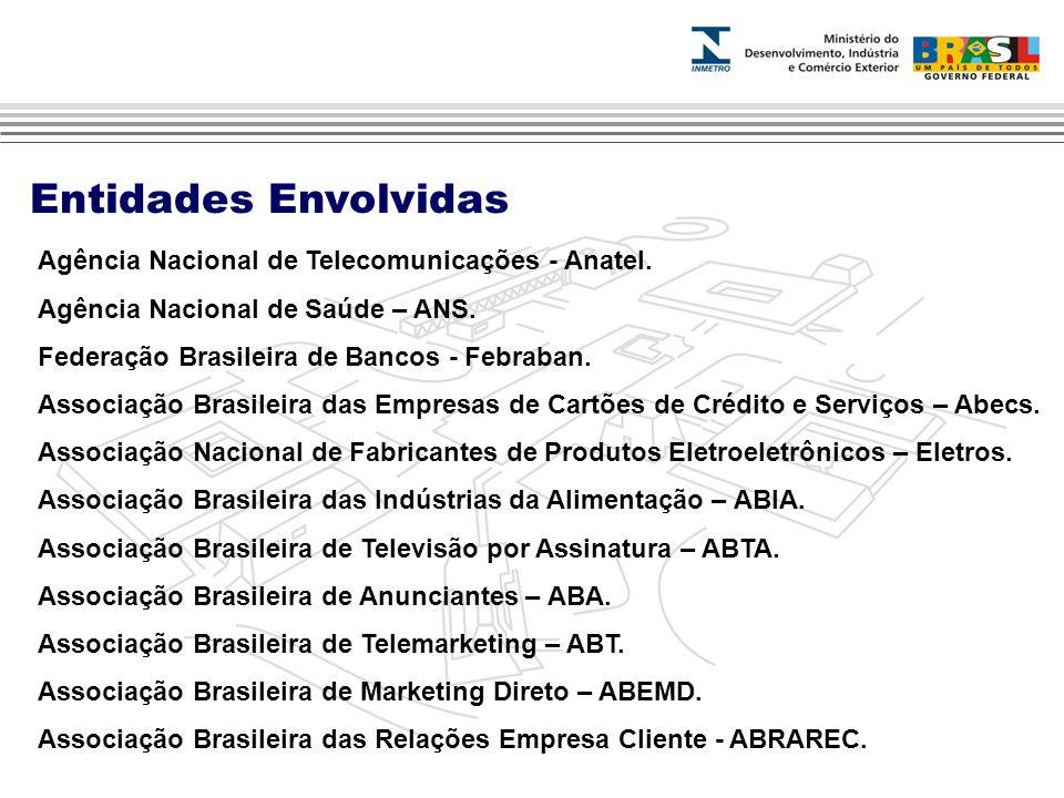 Entidades Envolvidas Agência Nacional de Telecomunicações - Anatel.
