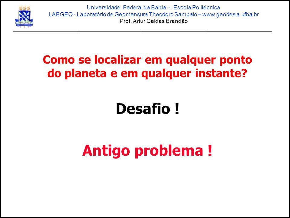 GPS / GNSS solução atual tem limitações Universidade Federal da Bahia - Escola Politécnica LABGEO - Laboratório de Geomensura Theodoro Sampaio – www.geodesia.ufba.br Prof.