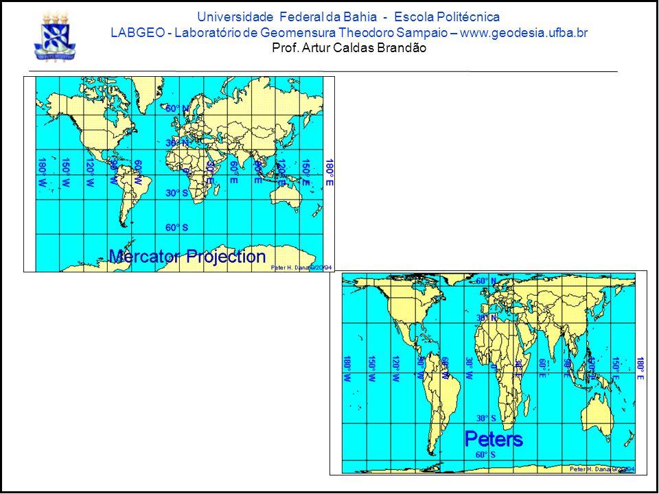 Sistema de projeção UTM Universidade Federal da Bahia - Escola Politécnica LABGEO - Laboratório de Geomensura Theodoro Sampaio – www.geodesia.ufba.br Prof.