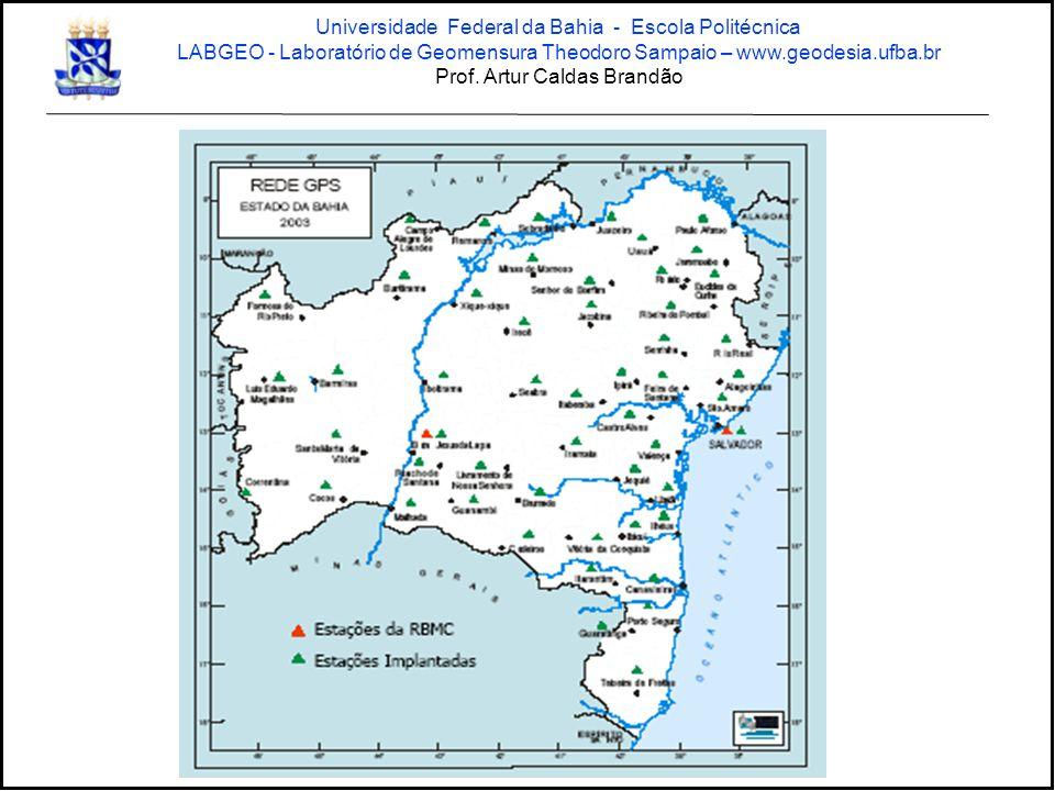 Estação Salvador Rede GPS Bahia SEI / IBGE Universidade Federal da Bahia - Escola Politécnica LABGEO - Laboratório de Geomensura Theodoro Sampaio – www.geodesia.ufba.br Prof.