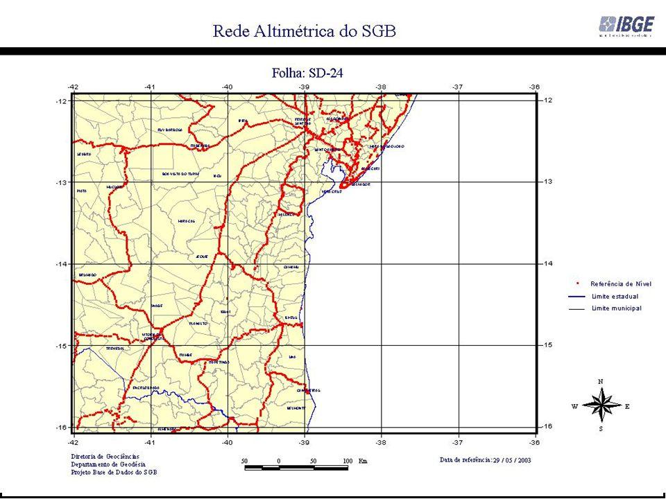 H: altitude ortométrica h: altitude elipsóidica Universidade Federal da Bahia - Escola Politécnica LABGEO - Laboratório de Geomensura Theodoro Sampaio – www.geodesia.ufba.br Prof.